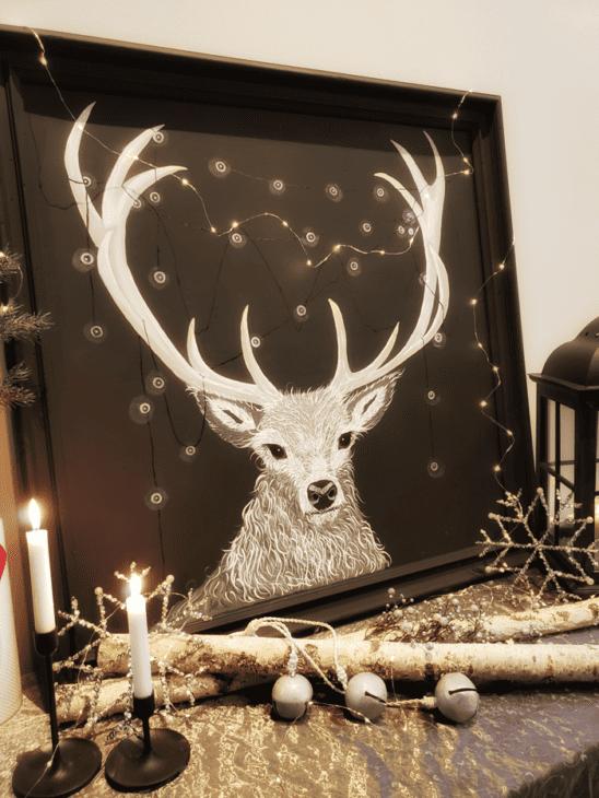 Christmas Deer Painting