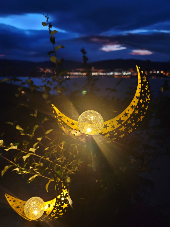 Crescent Moon Solar Lights