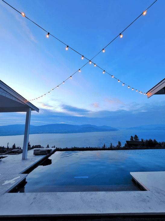 Lights over pool