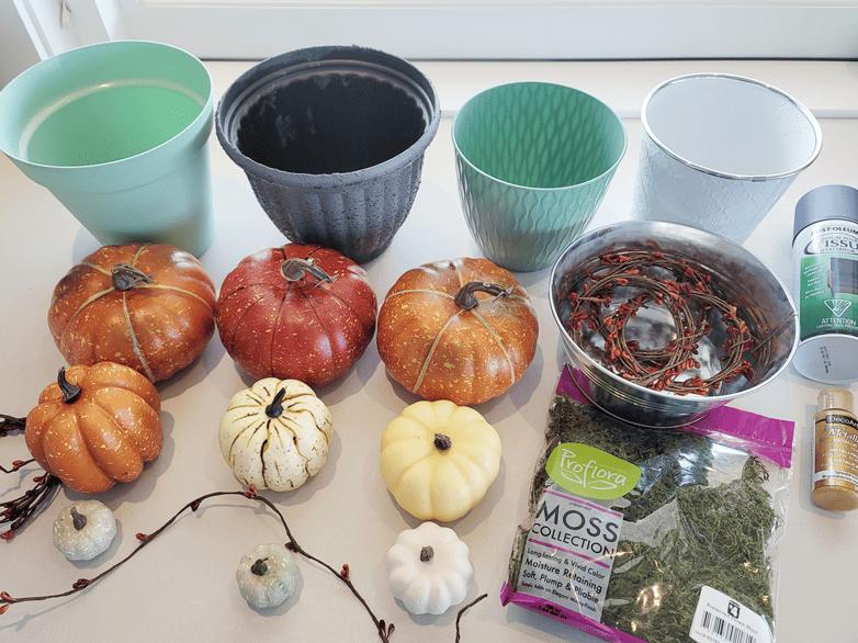 Pumpkin topiaries materials